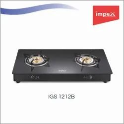2 Burner Glass Gas Stove (IGS 1212b)