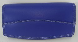 Blue Genuine Leather Ladies Wallet
