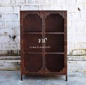 Rustic Industrial Design Artfully Crafted of Metal, Elegantly Rustic Bookcase