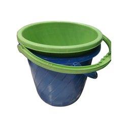 Blue And Green Swift Colored Plastic Buckets, For Home