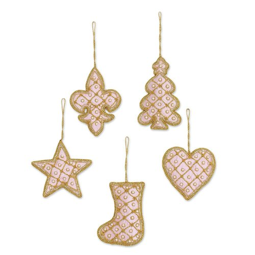Zari Embroidered Work Christmas Hanging Decoration