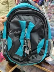 Sky Blue & Black Laptop Bag