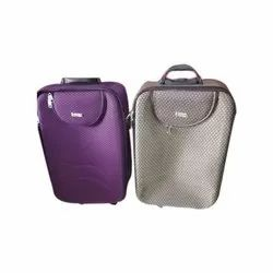 Purple & Grey Nylon Travel Trolley Bag, Size: 12 - 25 Kg