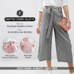 Knotted Strip Culottes