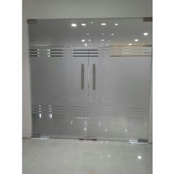 Hinged Toughened Glass Door, Thickness: 12 Mm