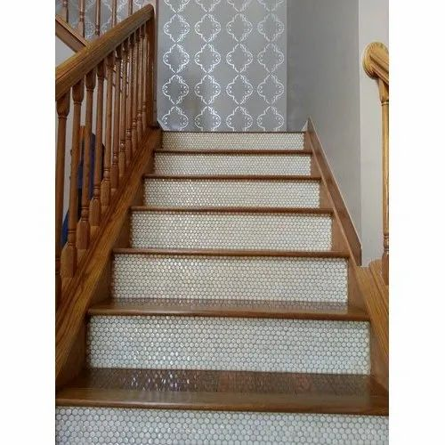 Virtuoso Inc Modern Hexagon Mosaic Stairs Tiles Thickness 8 10 Mm Rs 530 Square Feet Id 21991558930