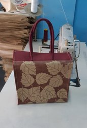 Leaf Design Jute Bag
