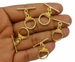 Gold Plated Toggle Clasps, Jewelry Helping Components