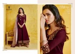 Sarthi Vol 8 NX-Sajawat Ready Made Maslin With Embroidery Work Ethnic Collection