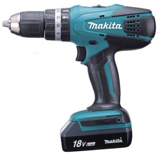 Makita 13 mm Cordless Hammer Driver Drill, HP457DWE, Torque...
