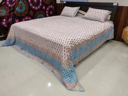 Indian Hand Block Printed Bedsheet