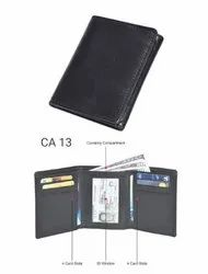 Cotnis Brown Tri Fold Leather Wallets, Card Slots: 5