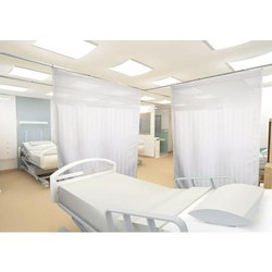 Plain White Hospital Bed Curtains
