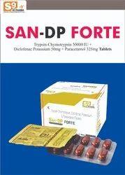 Diclofenac Pottasium 50mg,Paracetamol 325mg,Trypsin Chymotrypsin 50000 iu