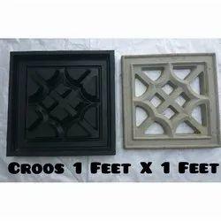 Cross 1 x 1 Feet Ventilation Jali Mould