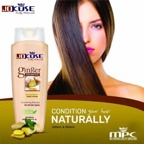 Jokuse Ginger Herbal Hair Shampoo, Packaging Type: Bottle