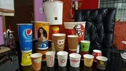 Yellow Paper Cups, For Cold Beverages, Size: 40-350 Ml