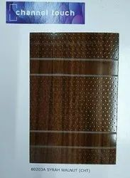 Sunmica Brown Channel Touch Syrah Walnut Laminated Sheet, For Furniture, Thickness: 0.8 - 1 Mm