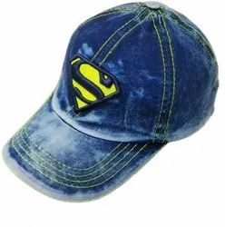 Superman Baseball Denim Jeans Wash Cap