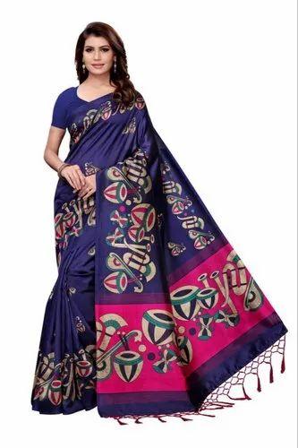 Party Wear Mysure Silk Saree, Length: 5.5 m (separate blouse piece)