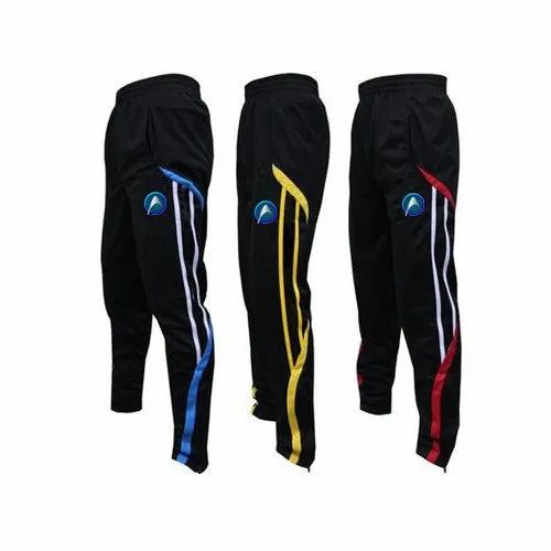 Black Plain Sport Track Pants