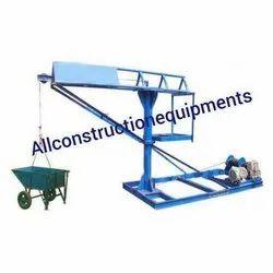 2-4 (m) Material Hoist Monkey Lift Machines, For Construction, Capacity: 0-1 Ton