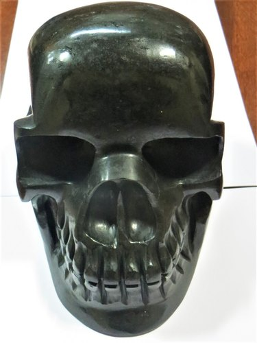 Life Size Large Gemstone Skulls in Black Tourmaline, Size/Dimension: 4 Inches And Above