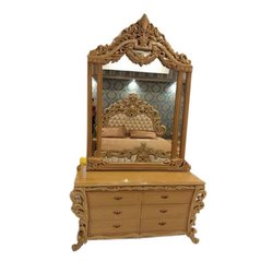 Royal Antique Wooden Dressing Table, For Home