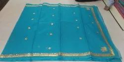 Kota Doria Gota Patti Work Saree