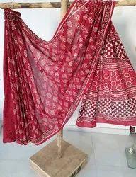 Hand Block Print Cotton Saree
