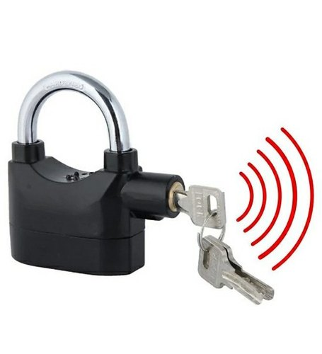 Main Door Stainless Steel Alarm Lock, Stainless Steel, for Door
