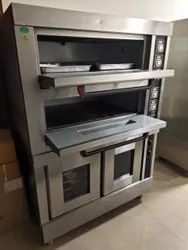 Double Deck Oven with Trolley System