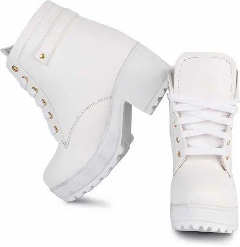 Longwalk Women Casual Wear Shoes (W-Boot753-White)