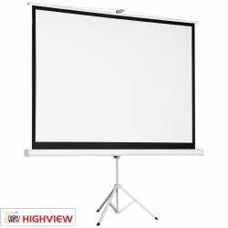 White Tripod Projector Screen