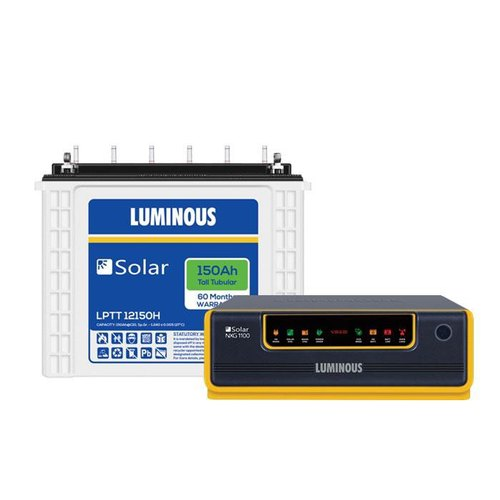 Luminous 1 Kva Inverter With Battery - Nxg 1100 Inverter, 150 Ah Battery