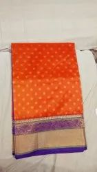 Archie Creators Casual Paithani Silk Saree, 6.3 m With Blouse Piece