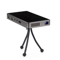 P8 Mini Projector with Battery, DLP Office Home Theater Mobile Projecting, HDMI Bluetooth WiFi Wirel