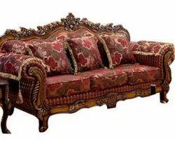 Brown Velvet Khalid Wood Italian Luxury Sofa Set For Living Room, Size/Dimension: 72 Length, Size: 72x48x28