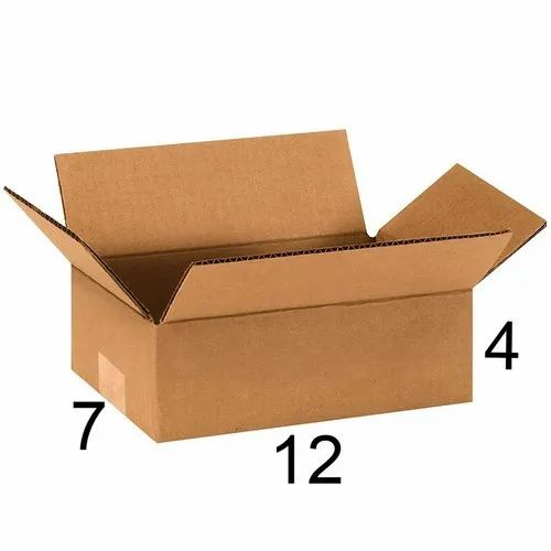 Rectangle 12 x 7 x 4 inch Corrugated Box