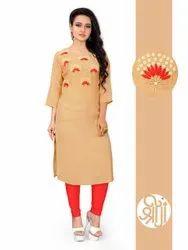 Shreeji Casual Wear Ladies Stylish Cotton Kurti, Wash Care: Machine wash