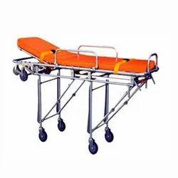 Manual Semi Automatic Ambulance Stretcher, Aluminium, Size: Standard