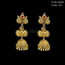 Antique Hanging Jhumka Earrings