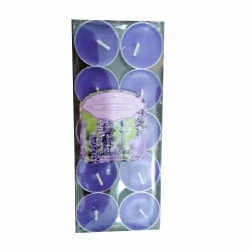 Purple Tea Light Decorative Candle