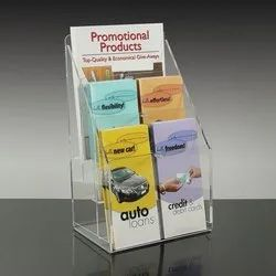 Acrylic 6 Pocket Brochure Stand