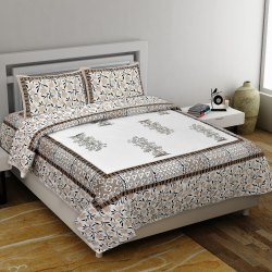 Printed Bedsheet for Double Bed Cotton