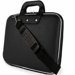 Black Polyester Shoulder Laptop Bag, Capacity: 10 Liter