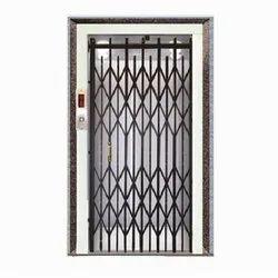 Mild Steel Black Collapsible Door for Commercial