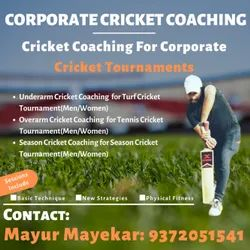 Basic-amateur-advance Corporate Cricket coaching services