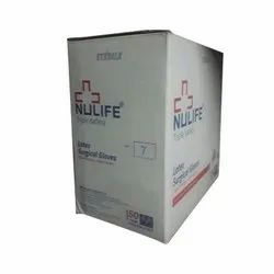 Triple Safety Latex Surgical Gloves, Packaging Type: Box