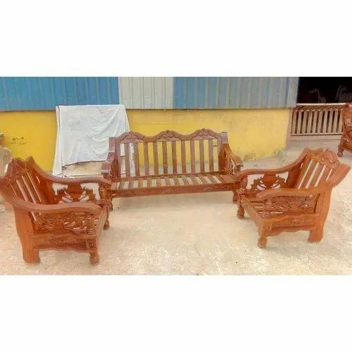 Brown Modular Wooden Sofa Set Rs 24000